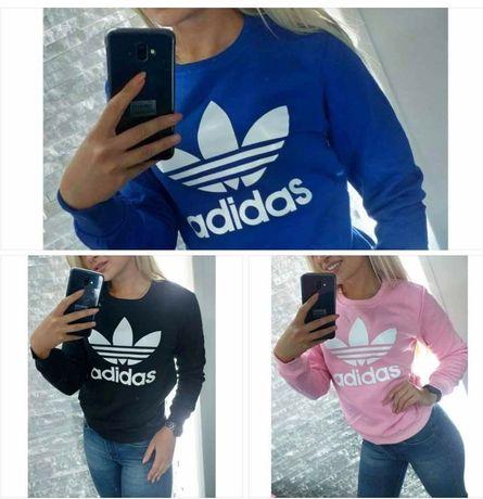 Bluzy damskie z logo Adidas bez kaptura kolory S-XL!!!
