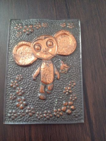 Чиканка, картина из металла чебурашка