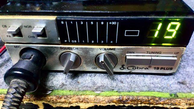 Sprzedam kultowe CB radio Cobra No. 19 plus z markową anteną.