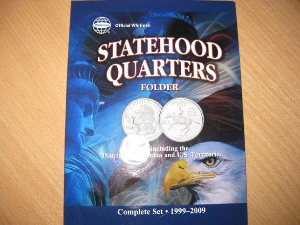 Альбом с монетами,серия Американские штаты-квотеры.Альбом с 50-ю монет