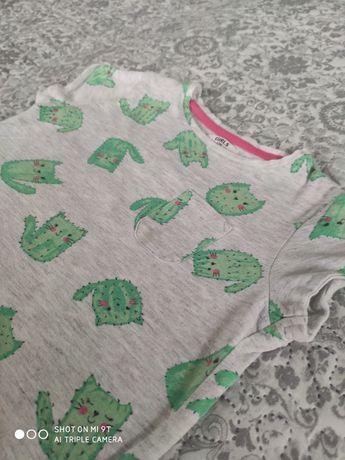 Bluzka koszulka krótki rękaw t-shirt dziewczynka, r.98.