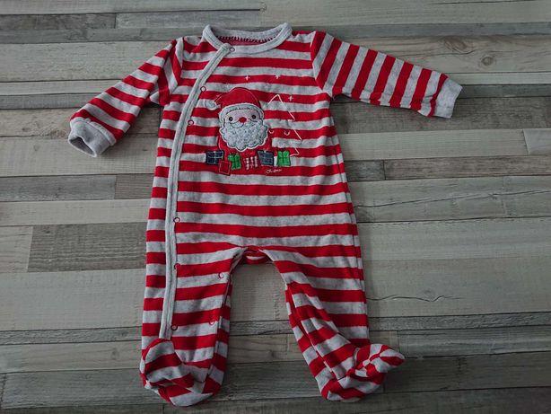 Nowy pajac świąteczny z Mikołajem 68, ciepła piżama. Cool Club SMYK