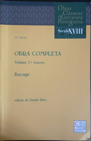 """""""Obra Completa - Volume I - Sonetos"""" de Bocage"""