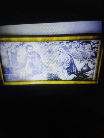 Bardzo stara obraz religijny duży