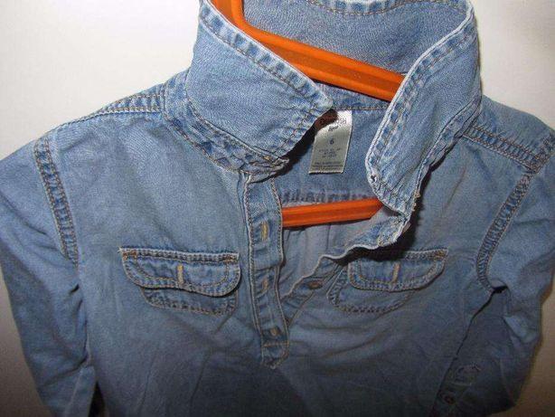 Sukienka jeansowa OSHKOSH 116,spódniczka H&M L.O.G.G.
