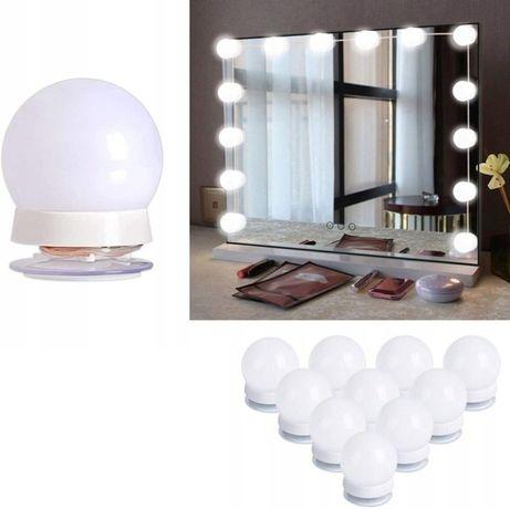 LAMPKI NA LUSTRO DO MAKIJAŻU DO TOALETKI 10 sztuk nowy możliwość wysył