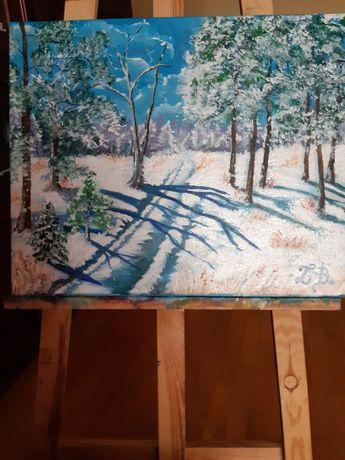 Nowy Obraz malowany acrylami