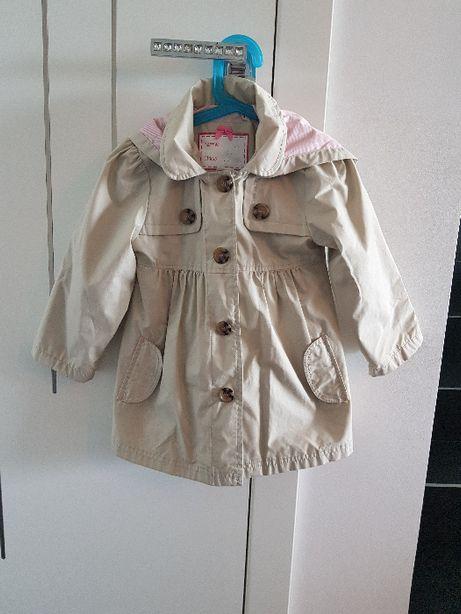Piękny lekki płaszczyk Mothercare dla dziewczynki rozmiar 110 4-5 lat