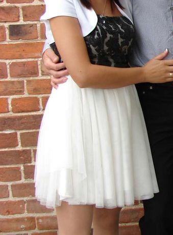 Sukienka rozkloszowana koktajlowa tiul, ślub , komunia 38 M