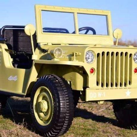 Auto na Akumulator dla dzieci Jeep Khaki 3 osobowe