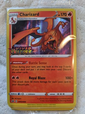 Charizard PROMO prerelease Vivid Voltage karty pokemon