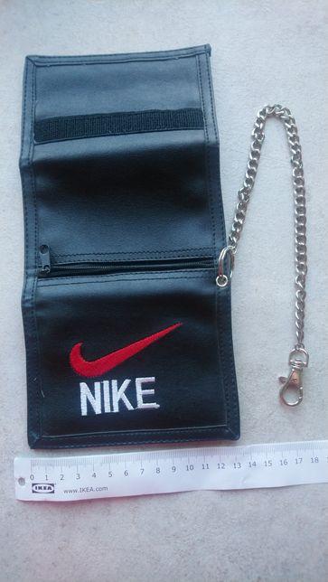 nowy portfel NIKE z łańcuszkiem + gratisy