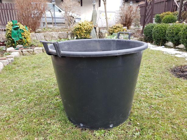 Donica czarna plastikowa