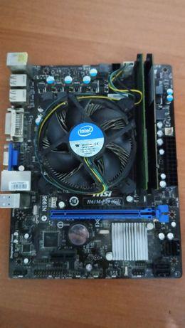 Płyta Główna MSI H61M-P20 (G3)+Intel i5 2400+2x4GB