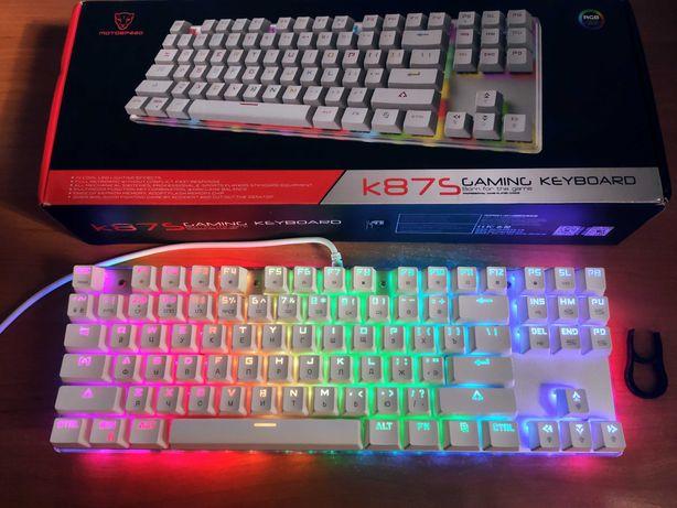Новая Motospeed K87S с RGB и Русским. Механическая игровая клавиатура.