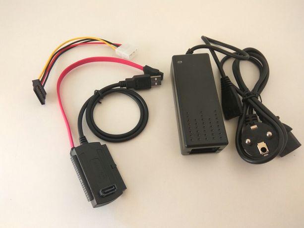 Адаптер USB - Sata, IDE с блоком питания