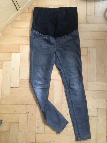 Jeansy spodnie ciążowe szare r. 40 H&M