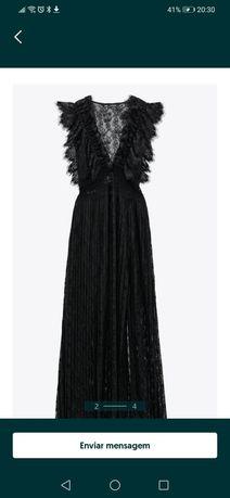 Vestido Preta Renda Zara