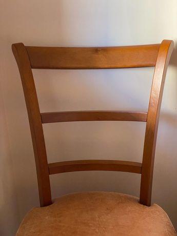 Mesa antiga em marfinite e conjunto de cadeiras cerejeira AMAIA