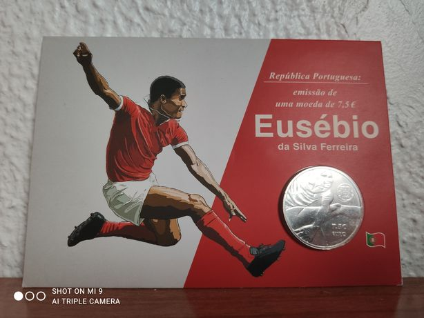 Moeda Eusébio Ferreira Benfica 7.5