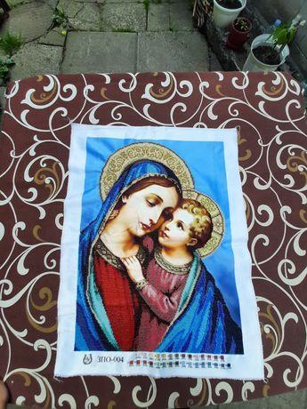 """Ікона бісером """"Марія і Ісус"""""""