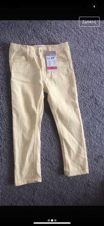 Spodnie jeans zolte sinsay fox&bunny nowe z metka