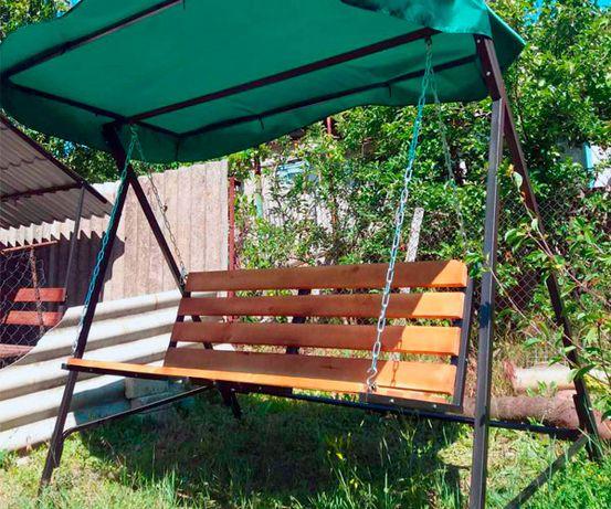 Разборные садовые качели для дачи. Доставка за 600 грн. Без предоплаты