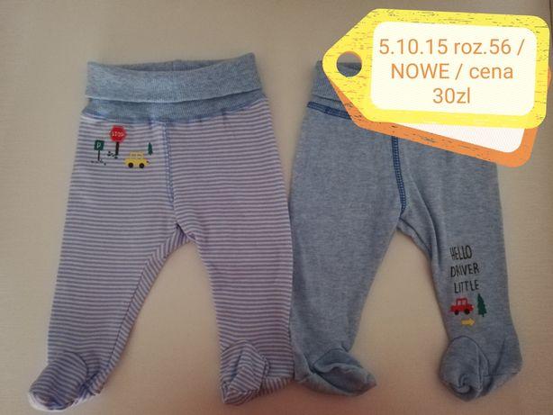 Półśpiochy/spodnie 5 10 15 roz. 56 Nowe