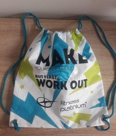 Plecak torba worek Fitness Platinium