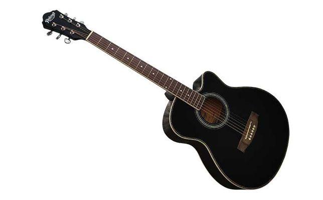 Черная польская полноразмерная гитара ВК-4040