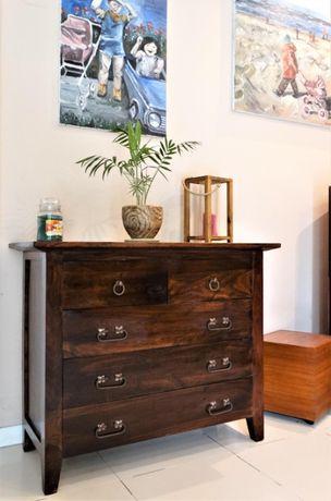 Drewniana komoda / bieliźniarka - lite drewno egzotyczne - AlmiDecor