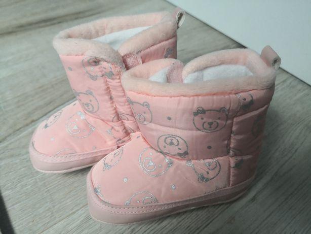 Buciki, buty zimowe niemowlęce rozmiar 19