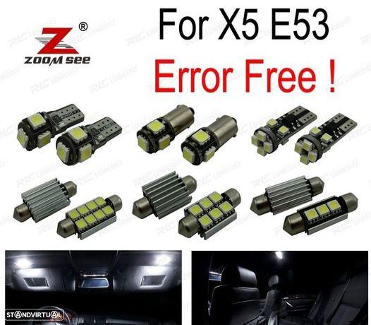 KIT COMPLETO DE 22 LÂMPADAS LED INTERIOR PARA BMW X5 E53 3.0I 4.4I 4.6IS 4.8IS 2000-2006