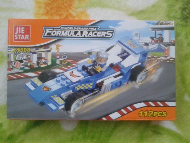 Конструктор гоночная машина типа Lego 112 деталей