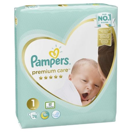 Підгузки Pampers Premium Care Newborn 1, 2-5 кг 78 шт. памперси