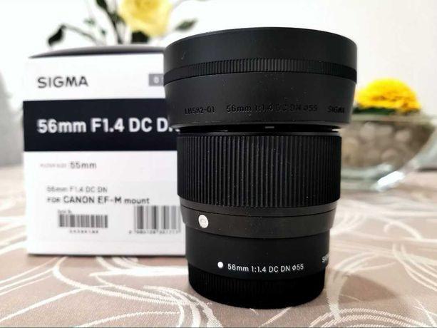 Lente p/ Canon 56mm F1.4 (ex: M50,M100) Sigma c/ Garantia 2 anos!