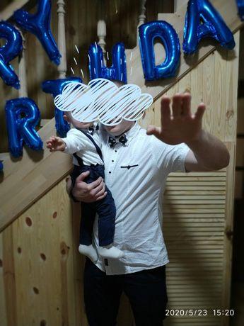 Фемели лук папа и сын + подарок брюки H/M