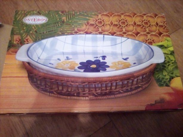 Посуд столовий овальний керамічний, посуда керамическая жаропрочная
