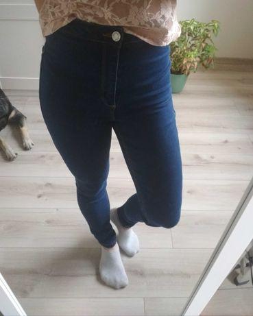 Nowe spodnie missguided petite 32 xxs wysoki stan