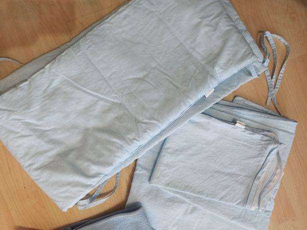 Pościel i ochraniacz do łóżeczka dla chłopca  120x60