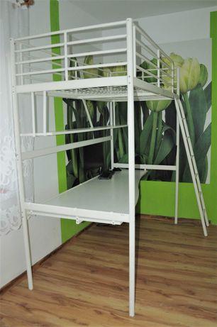 Łóżko piętrowe antresola ikea biurko