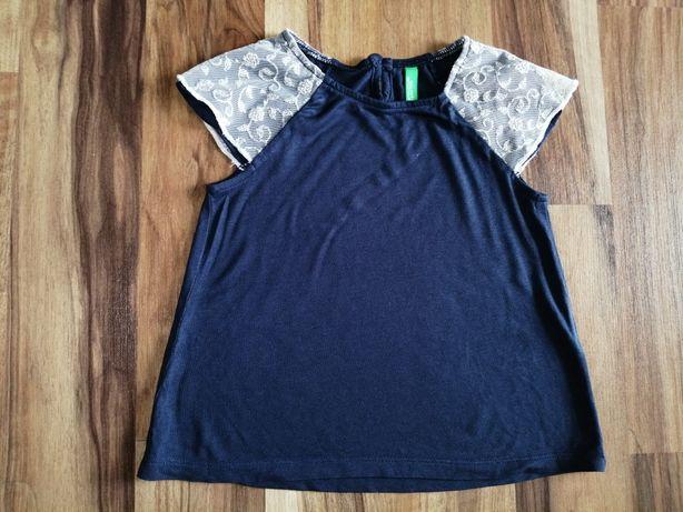 Bluzka koszulka firmy Benetton dla dziewczynki