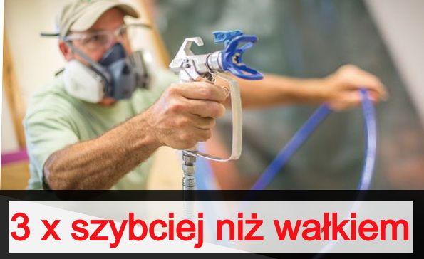 Agregat - Malowanie mieszkań - 3 x szybciej niż wałkiem - Łódź