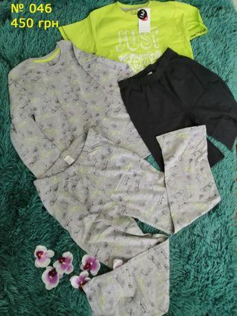 Комплект футболка + шорты и пижама с длинным рукавом и штанами