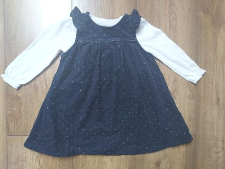 Granatowa sukienka dla dziewczynki 80