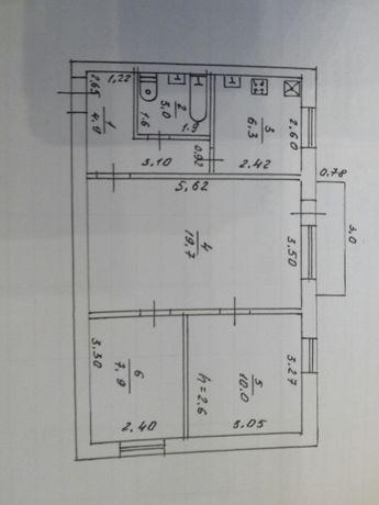 Продаю в центре Купянск-Узловой, 3-х комнатную квартиру