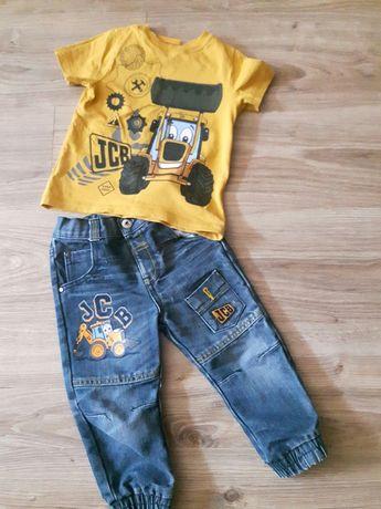 Spodnie t-shirt koparka JCB 86 92