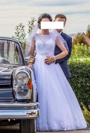 suknia ślubna Annais Bridal Karen 36/38 + welon