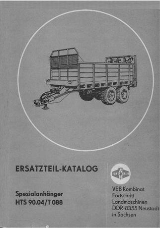 Katalog części rozrzutnika Fortschritt T 088