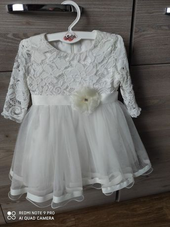 Sukienka na chrzest / komplet rozm. 74